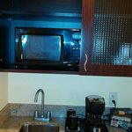 Coffee pot, Mircowave, Referigerator or small sink like kitchen