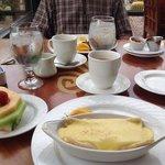 """My breakfast """"Artichoke Crepe""""."""