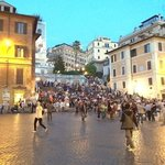 The Spanish steps...