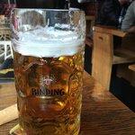 Large Oktoberfest beer