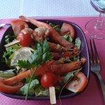 Salade de gambas et crevettes