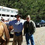 Tim & Nate - new best friends!! Thanks Tim for a memorable ride!! You make Gus & Woodrow proud..