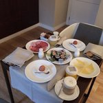Breakfast delivered to our room was great!