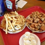 Fish Sampler and Large Fish & Chips Platters (feeds 4-6 no prob)
