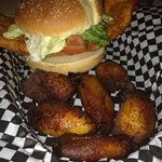Fish Sandwich with Plantains on the side