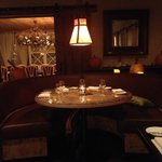 Large booths and another private dining area in backLarge booths and another private dining area