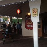 Heated Outdoor area on the Corner Bar