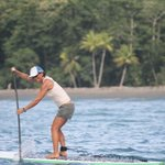 Long distance paddling in Pavones