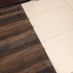 Ugh oh, frayed carpeting in a new hotel?!