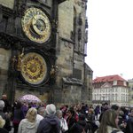 Start of tour at the astronomical clock