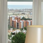 View from bedroom down into Malaga