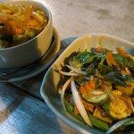 Chilli Basil Tofu & Massaman Curry