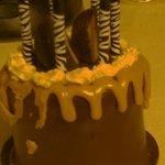 vegan chocolate peanut butter cup birthday cake!!!