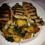 Pork Chop Dinner with potatoes