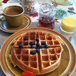 Homemade sourdough waffles