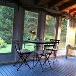 The screened in porch