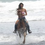 Our friend Cristel enjoyed riding Chief. A gelding with a lot to teach to begginers!!