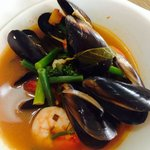 Tom Yum Mussels (with Prawns)