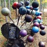 bowling balls sculpture