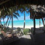 Our front deck. Beachfront Villa.
