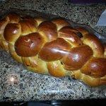 Hmmmm fresh Jewish bread .