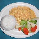 Mahi-Mahi with shrims sauce