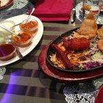 Tandoori meats and Samosa