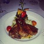 Karoo lamb chops to die for. Crisp fat. Medium rare meat.