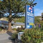 Entrance of Blue Seas Motel, Kaikoura
