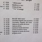 Perugini menu
