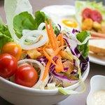Healthy salad for breakfast