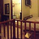 2nd floor with bedroom, bath and door to big terrace