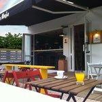 Terraza de la cafetería - restaurante