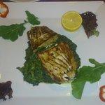 Tuna with spinach and potato. Delicious.