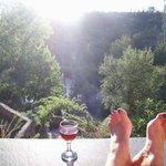 Relaxen op het terras van Sparkling Blue