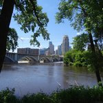 Minneapolis as seen from the north bank of the river