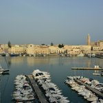View of Trani harbour from our room