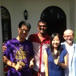 me , Prasad , my wife and Keith(frome left to right)