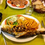Sea Bass with chips (If you like!)
