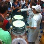 Parmigiano-Reggiano making