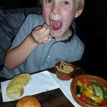 Little guy enjoying his first tapas!!