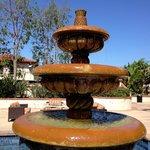 The lovely courtyard fountain