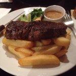 The steak was fantastic as always