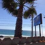 View of Malibu Beach from our seating on the 3rd patio