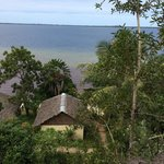 Our bungalow from hill above