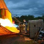 Hot Air Balooning - 6.15 am before sun rise......