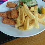 Childrens portion of scampi and chips, very tasty