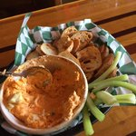 Set it on Fire appetizer (Buffalo Chicken Dip)