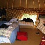 Yurt Interior Rock Farm Slane