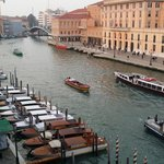 view of grand canal from our window